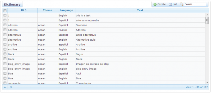 Navigate cms documentation users guide navigate cms functions for every translatable string there will be as many rows as languages available the quickest way to find a text string is using the mini search filter on maxwellsz